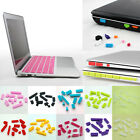 For Macbook Air Pro Retin 12pcs Silicone Ports Cover Set Anti-Dust Plug Covers