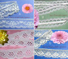 "White Lace Trim 12-96 Yards CLOSEOUT 3/4""-7/8"" 048SV Your Choice No Ship Fee"