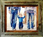 """4"""" x 6"""" Reclaimed Barn Wood [3""""] Texas Vaquero Rustic Picture Frame Ships Free"""