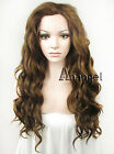 Brown Long Fashion Synthetic Lace Front Wig Sexy Women Curly Heat Resistant Hair