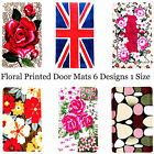 Summer Printed Themes Door Leisure Mats Fade Resistant Traps Moisture Anti-Slip