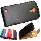 Clamshell PU Leather Flip Case Cover For Posh Mobile Smartphone /u choose model