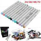 Fine FINECOLOUR EF101 24 36 48 72 Color Set Marker Pen Sketch Manga Graphic+Bag