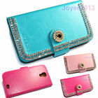 Artificial Rhinestone PU Leather Wallet Case Cover For POSH Mobile SmartPhone
