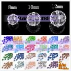 Round 96 Facets Crystal Glass Ball Charms Loose Spacer Beads 8mm 10mm 12mm $1.55 USD