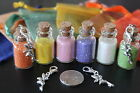 Small Bottles Fairy / Elf Glitter Dust - Fairy on a Clasp. 28x16mm. Party Bags