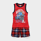 New Baby Children Kid Boy Red T-shirt+Shorts 2PC set Outfit Clothing
