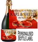Personalised Wedding Bottle Label Gift Wine, Spirit or Champagne WDBL 17