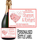 Personalised Wedding Bottle Label Gift Wine, Spirit or Champagne WDBL 23