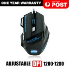 AU USB 6800DPI LED Wired Optical Backlight Gaming Mouse Support Pro 7 Button New