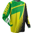 MENS GUYS SHIFT RACING MX ATV RIDING GREEN YELLOW FACTION SATELLITE JERSEY SHIRT