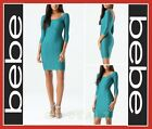 bebe TEXTURED BODYCON DRESS MINI PARTY CLUB COCKTAIL SEXY WOMEN GREEN (NEW)