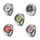 Girls Woman Modern Stylish Chrome Time Jewelry  Alloy Quartz Finger Ring  Watch