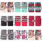For LG Spree Optimus Zone 3 VS425 K4 Design PU Leather Bling Wallet Cover Case