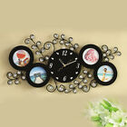New Modern Photo Frame Iron wooden Art Room Wall Clock Fashion Home Decoration