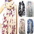 Women Ladies Soft Long Neck Large Butterfly Scarf Wrap Shawl Pashmina Stole Soft