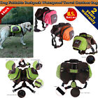 US LOCAL Pet Dog Outdoor Hiking Camping Saddle Bag Backpack Harness Back...