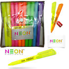 Dollar NEON Highlighter Fluorescent Bright Colours Sets Office Educational Pens
