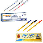 PIANO HIGH QUALITY BALLPOINT PENS 1MM STAINLESS STEEL BALL IN BLUE, BLACK & RED