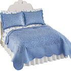 Collections Etc Cascade Leaf Matelasse Bedspread