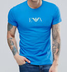 Emporio Armani T-shirt in blue cotton, Men's Tshirt, Size M, L, XL, Body fit NWT