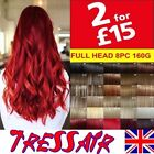 Real Thick Clip in Hair Extensions Full Head as Remy Straight Synthetic Blonde