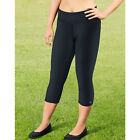 Champion Women's Plus Absolute Capris With SmoothTec Waistband - Black 1XL-4XL