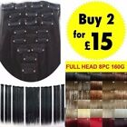 Hair Extensions UK Seller 8Piece 18clips Full Head Clip in Hair as Human Favored
