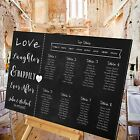 Personalised Wedding Table Seating Plan-CHALKBOARD - HAPPILY EVER AFTER-4 SIZES