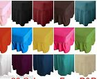 Plain Dyed 26 CM Deep Box Fitted Frilled Valance Sheet Poly-Cotton  In All Size image