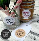 Handmade with Love Personalised Sticker Labels |Choice Black White Kraft Red