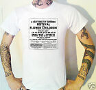 Festival Of The Flower Children 1967 Advert T-Shirt Small Faces Move Peel
