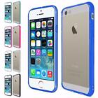 For Apple Iphone 5 5S Iphone SE Slim Hard Clear Transparent PC+TPU Cover Case