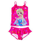 Girls Official Disney Frozen Swimming Costume New Elsa Print Two Piece Swim Set