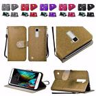 For LG K10 Shiny Premium PU Leather Wallet Cover Case