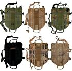 TACTICAL DOG VEST HARNESS K9 MOLLE ARMY HUNTING TRAINING MILITARY PATCH XS - XL