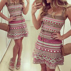 Boho Sexy Women's Bodycon Summer Casual Party Evening Cocktail Short Mini Dress