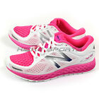 New Balance WZANTHP2 D White & Pink & Silver Fresh Foam Breathe Running Shoes NB