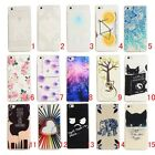 Rubber Patterned Silicone Clear Soft TPU Cute Back Cover Case For Huawei series