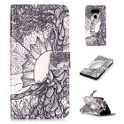 Variety Painted Stand Patterned Shockproof Wallet Card Leather Case Cover For LG