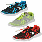Childrens Sprint Knit Inf & Jnr Textile Elasticated Lace Trainers F & G Fittings