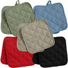 (2) Cotton Pot Holders by The Home Store~~Green, Blue, Black, Red, or Tan~NEW