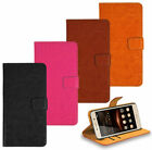 iPhone Nokia Sony LG Premium Leather Wallet Kickstand Bag Case Cover