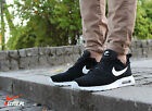 Nike Air Max Tavas Leather Suede Black/White Mens Shoes  802611-001 NEW SNEAKERS