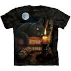 THE WITCHING HOUR T-Shirt Mountain Black Cat Witchcraft Magic S-3XL NEW