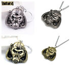 New Fallout 4 Mask Metal Key Chains Pendant Keyring Necklace 2Color Cosplay Prop
