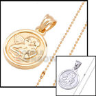 21P20 mens Baby Angel Guardian Pendant Bead chain necklace