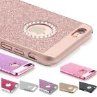 NEW Bling Glitter Sparkly plastic Phone Cover Case For iPhone 5 6 6s 6+ 7 7+ UK