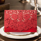 Red Wedding Invitation Lace Invites Kits with Envelope Seals Free Personlized