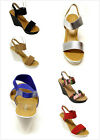 New Women's Fashion Slingback Ankle Strap High Heel Platform Wedge Sandals Shoes